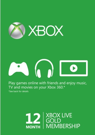 Xbox Live Gold - 12 Months (Global) Subscription
