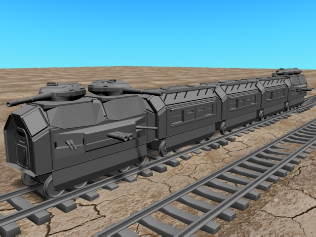 3D model of the armored train