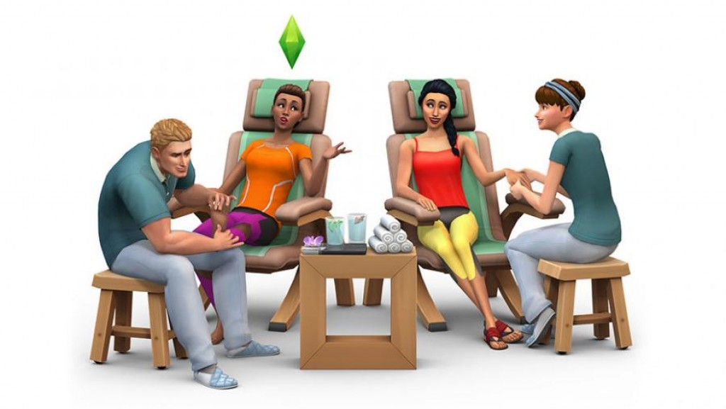 The Sims 4:Spa Day Bundle-Spa Day/Luxury Party/Patio