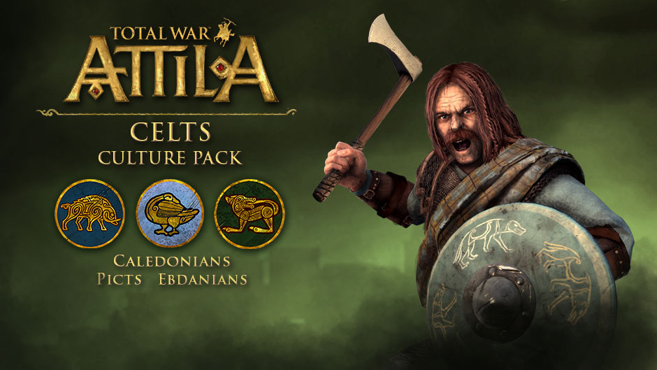 Total War ATTILA: DLC Celts Culture +3Фракции +3Миссии