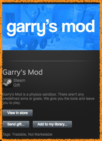 Garry´s Mod (GMOD) STEAM GIFT [REGION FREE ROW GLOBAL]