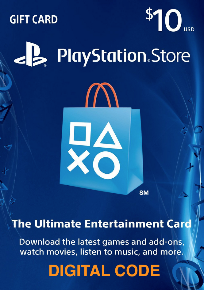 PSN $10 (USD) - PlayStation Network Store Gift Card USA