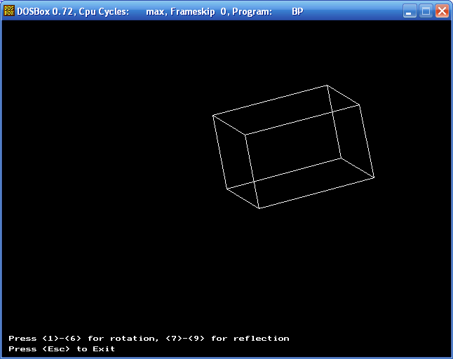 The three-dimensional conversion (a box, Turbo Pascal)