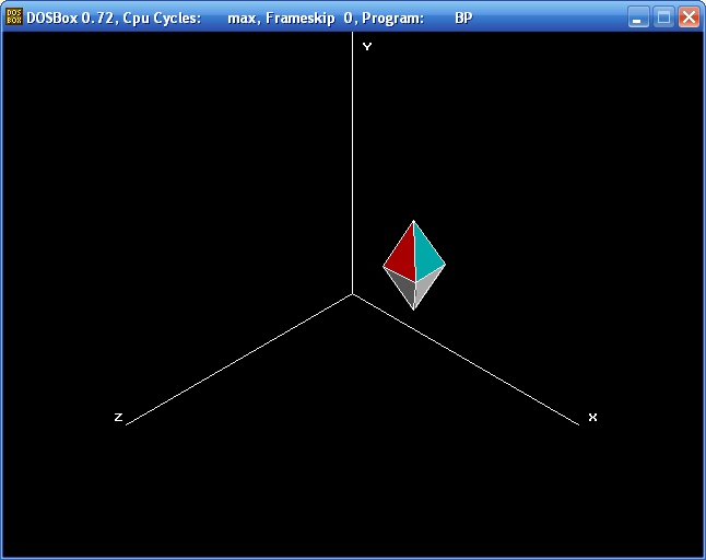Projections (Octahedron, Isometric, Turbo Pascal)