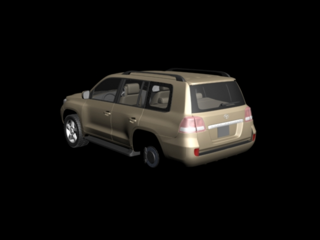 3D model of the Land Cruiser 200