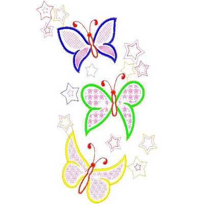 Machine Embroidery Design Butterfly