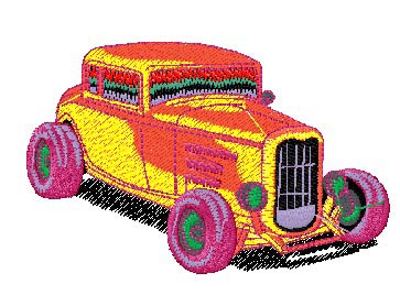 "Embroidery ""retro cars"""