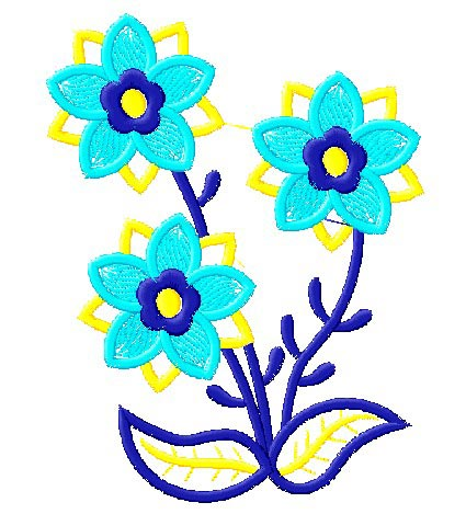 "Computer-Embroidery Machine ""Flowers"""