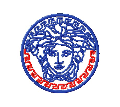 "Machine-computer embroidery logo ""Versace"""