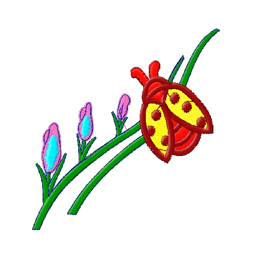"Machine embroidery ""Ladybird"""