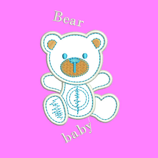 Children Embroidery Bear