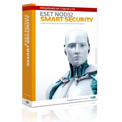 ESET NOD32 Smart Security 3 PC 1 year Russia