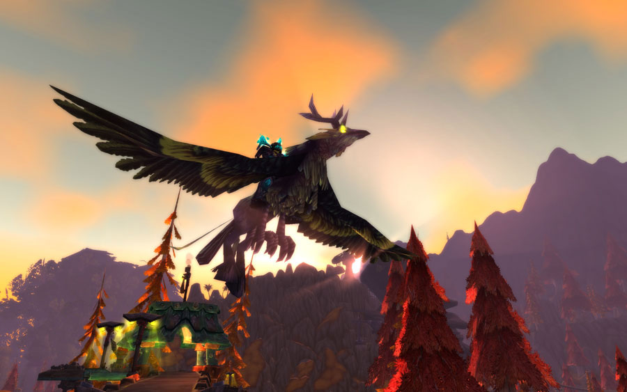 MOUNT Flaming hippogriff (Blazing Hippogryph)