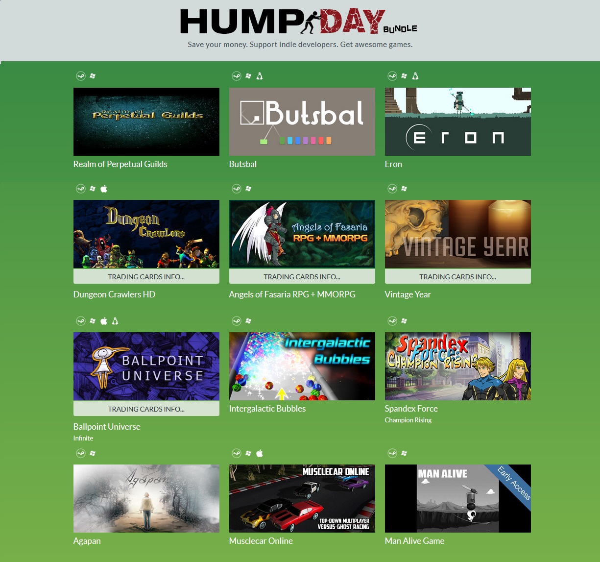 Indie Gala Hump Day Bundle 8 (12 steam игр) Region Free