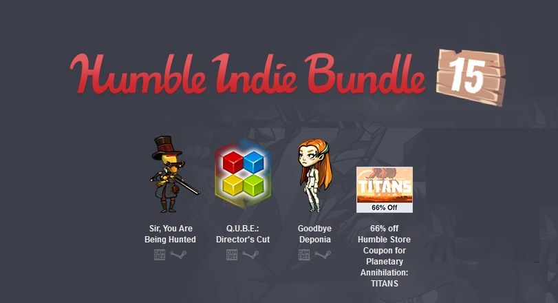 Humble Indie Bundle 15 (3 steam)