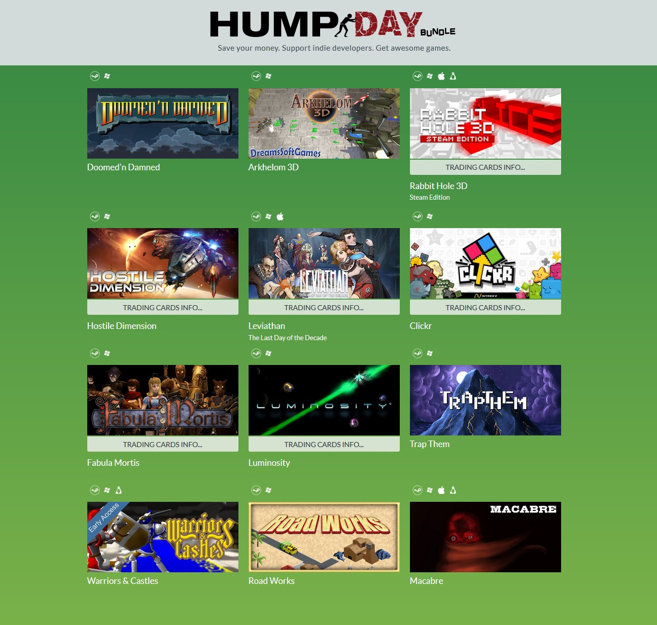 zIndie Gala Hump Day Bundle 10 (12 steam) Region Free