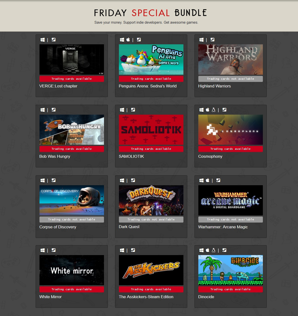 Indie Gala Bundle Friday Special 31 (12 Steam ключей)