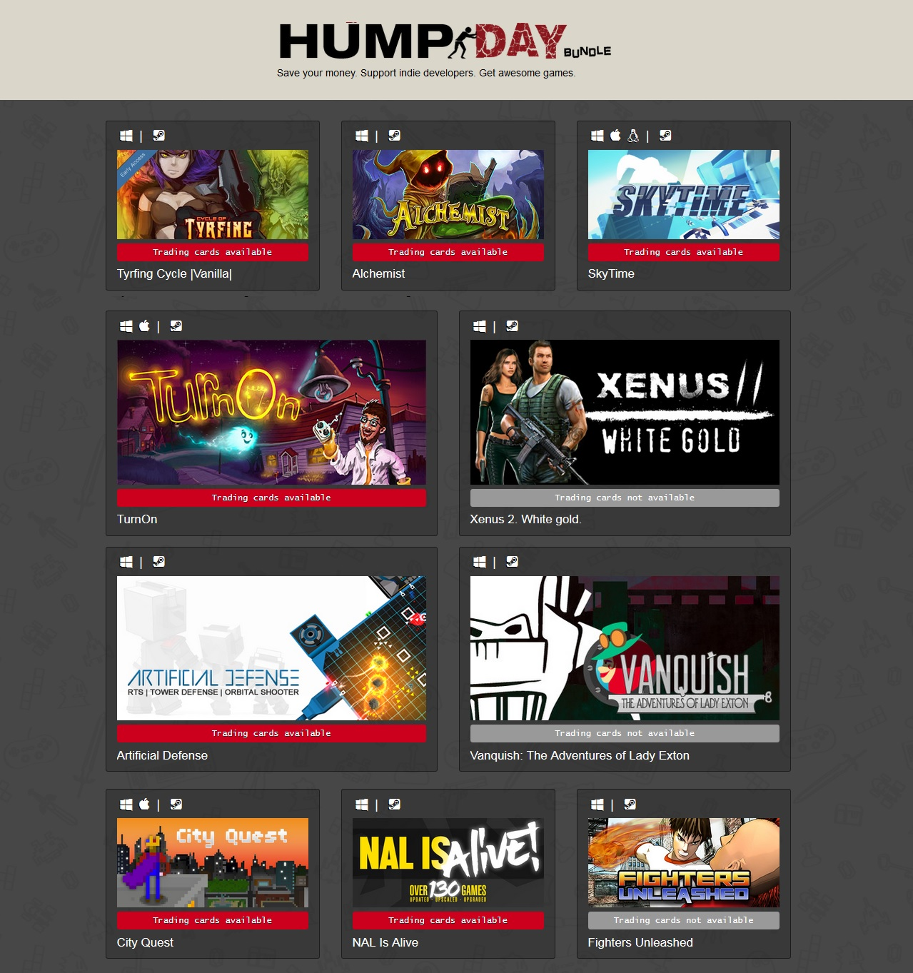 Indie Gala Hump Day Bundle 33 (10 steam ) Region Free