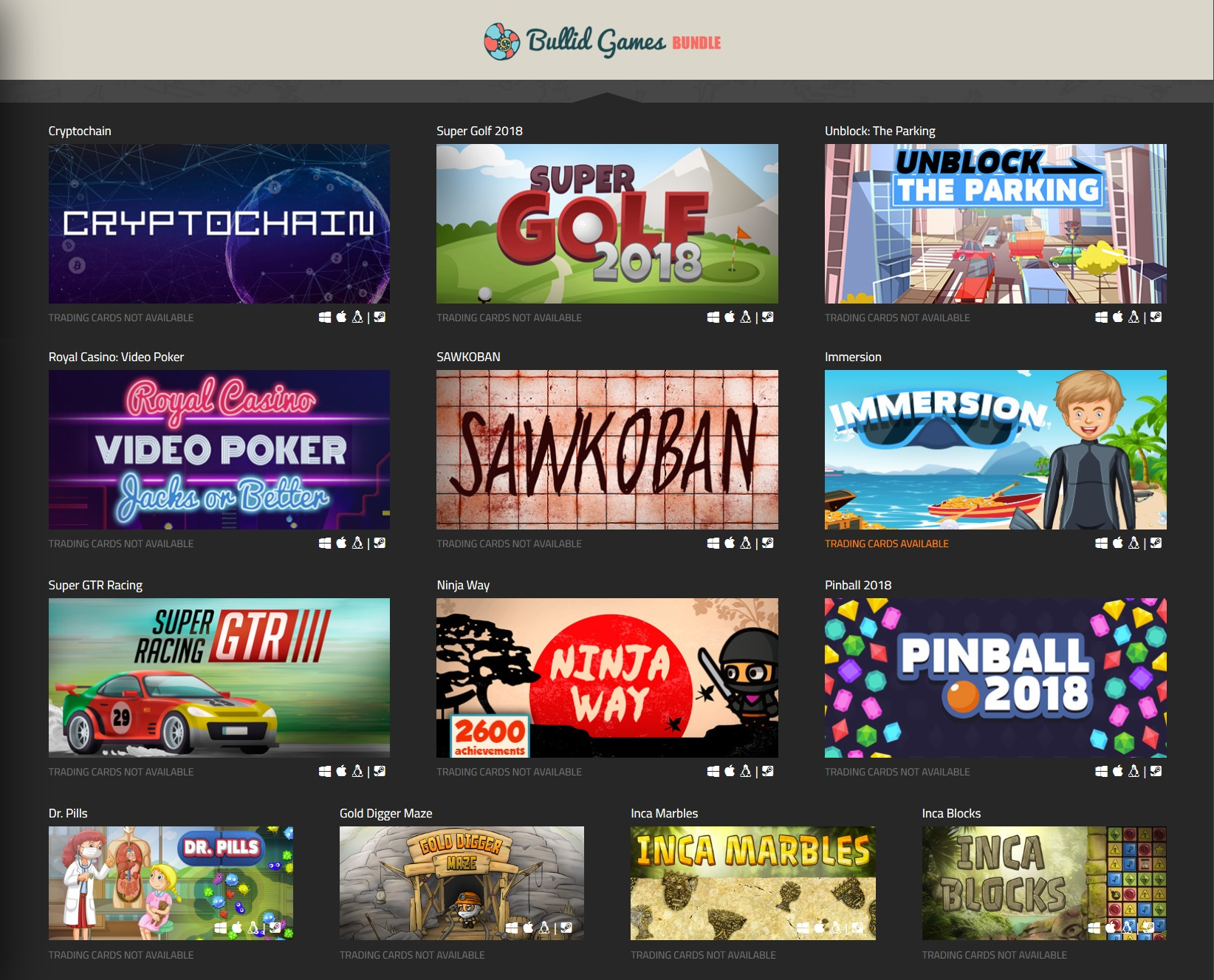 Indie Gala Bullid Games Bundle (13 Steam игр)