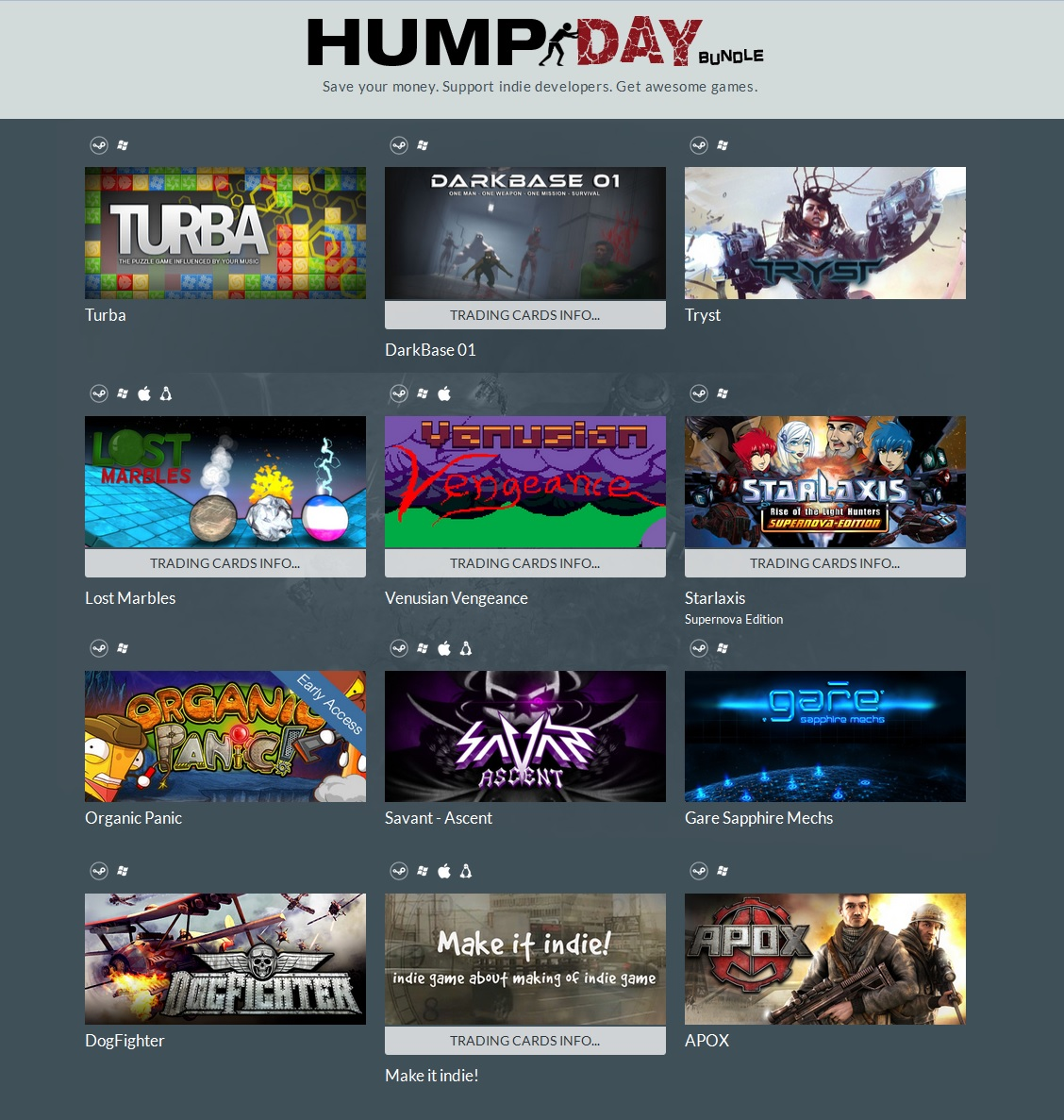 Indie Gala Hump Day Bundle 4 (12 steam ) Region Free