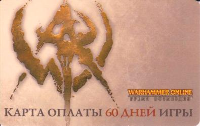 Warhammer Online RUS CD KEY time cards 60 days of discounts