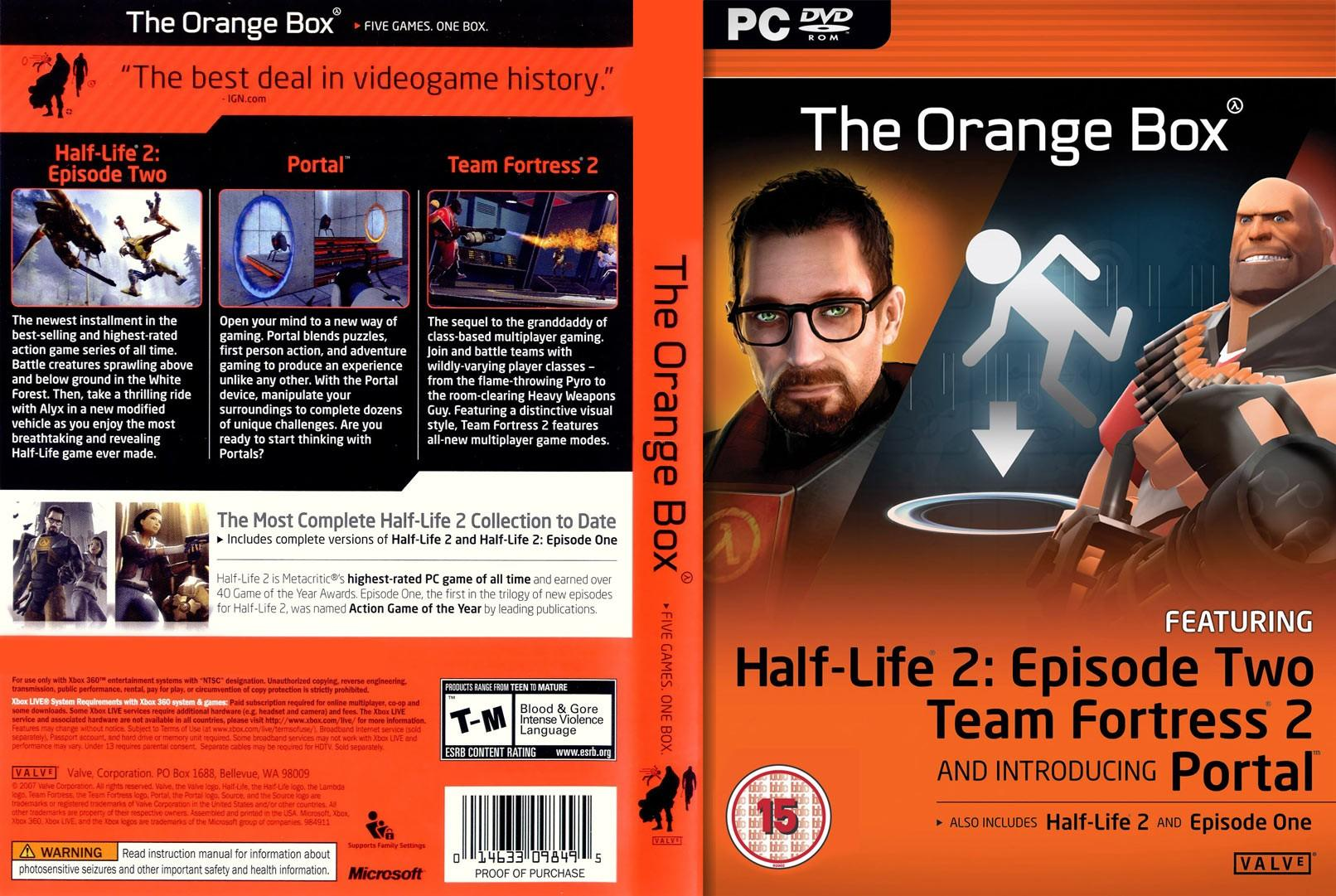 The Orange Box 5 игр HL2 1.2.3 EPISODE TF2 PORTAL|STEAM