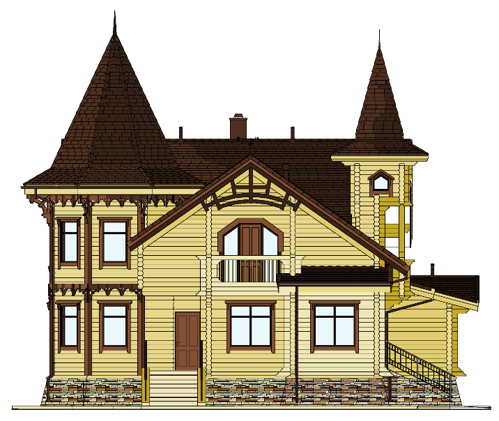 Detailed design, front-174.19 an individual house