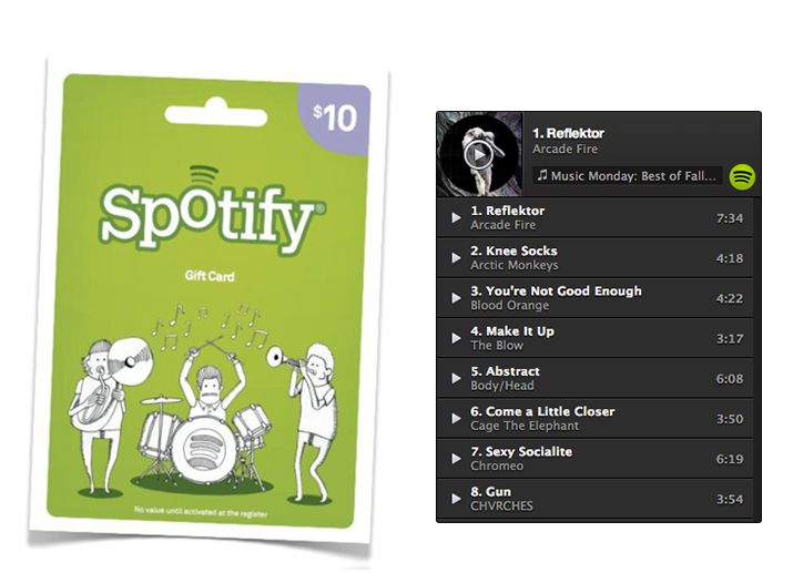 $ 10 Gift Card for Spotify! Gift Card Only here