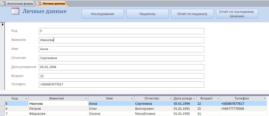 единая медицинская база данных по пациентам