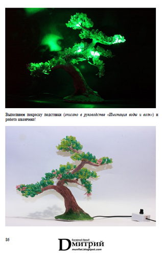 Create a lamp - beaded tree