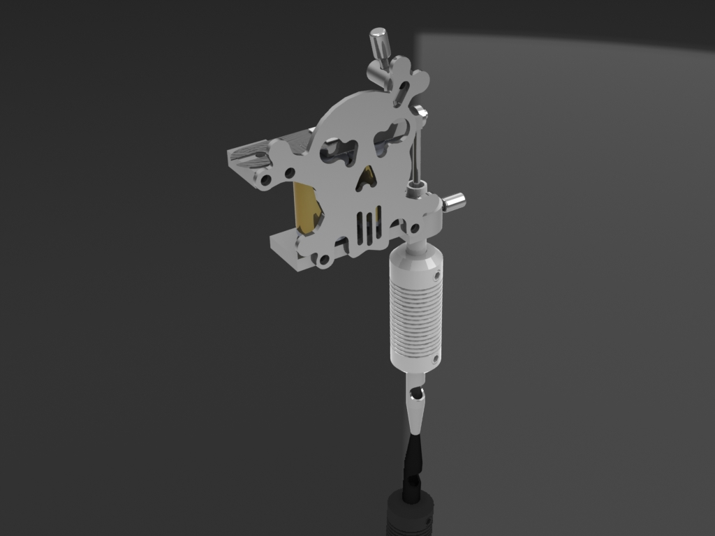 3D models and drawings of tattoo machine for tattoos