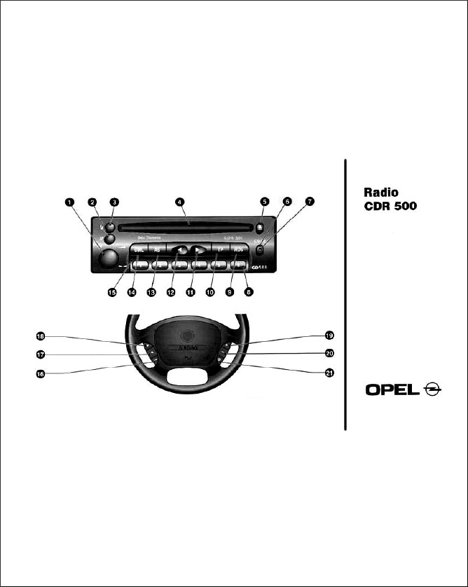 Instructions Radio CDR 500 Opel original rus