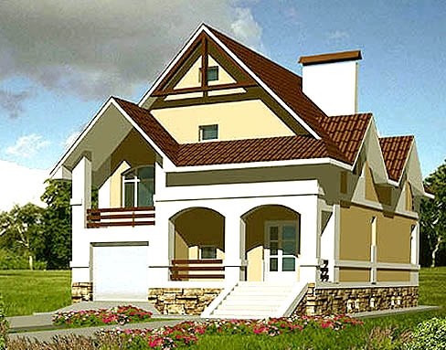 Kottedtzhi and vacation homes - 100 projects and plans