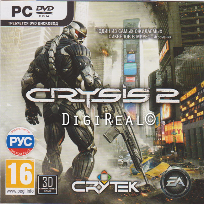 Crysis 2. Scan from 1C. Region Free.