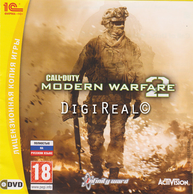 CALL OF DUTY: Modern Warfare 2 for Steam. Scan from 1C