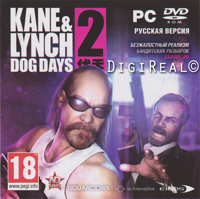 Kane & Lynch 2: Dog Days. For Steam. Scan from New Disc