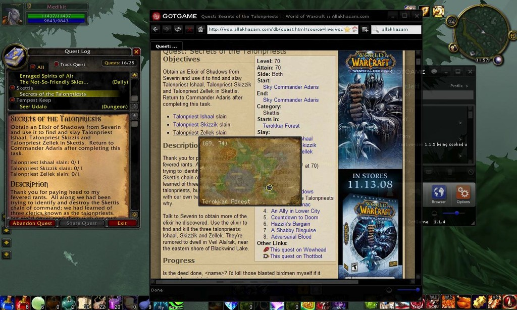 Browser within the World of Warcraft (For all versions)