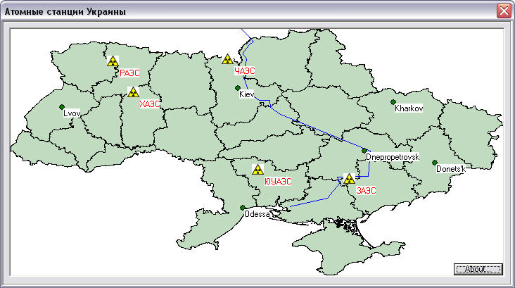Ukrainian nuclear power plants (source)