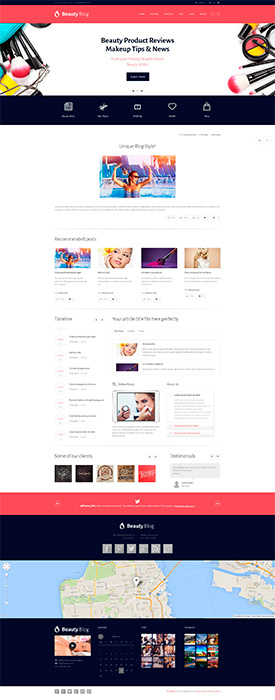 Магазин на Wordpress - BeautyBlog 2.2 (80% скидка)