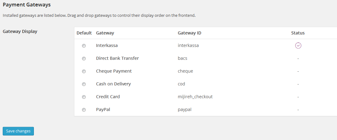 Plugin Interkassa 2.0 Payment Gateway for WooCommerce