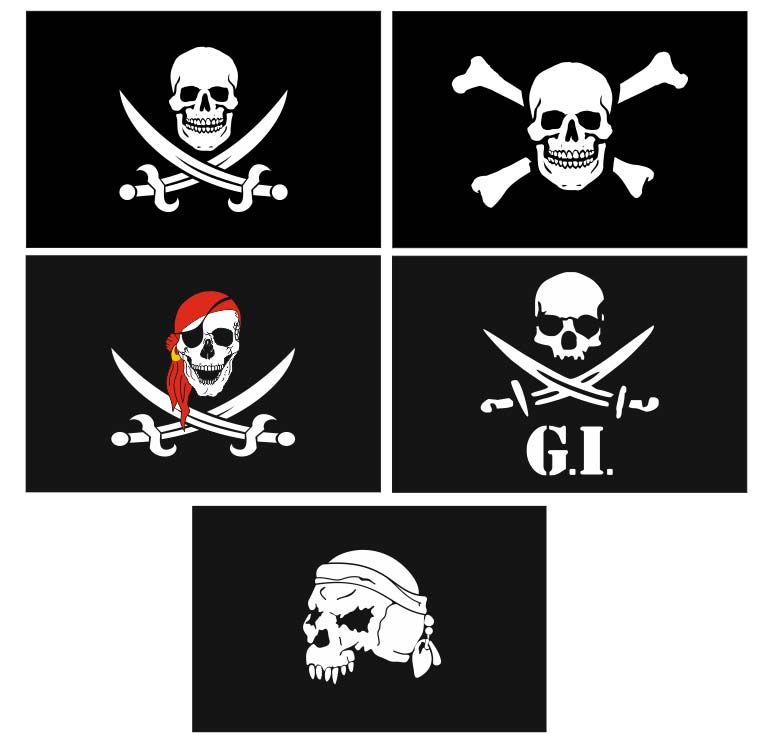 Pirate flag (Jolly Roger) vector