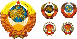 emblem of the USSR in the vector