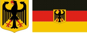 Germany coat of arms flag with the emblem + vector