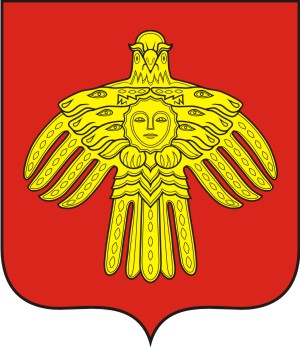 coat of arms of the Republic of Komi in the vector