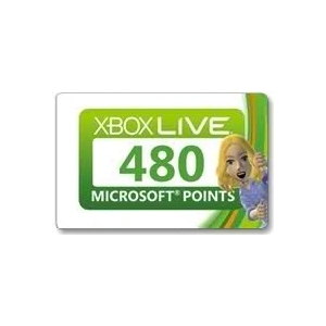 Xbox LIVE Card 480 points USA  (СКАН)