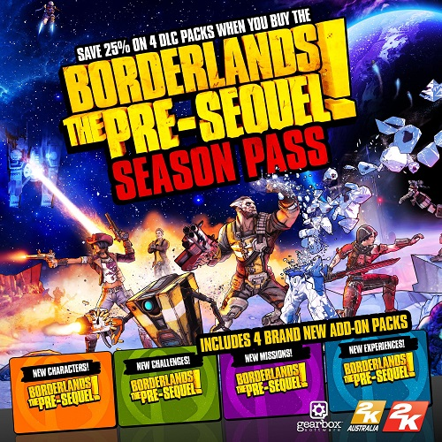 Borderlands: The Pre-Sequel! Season Pass + GIFT