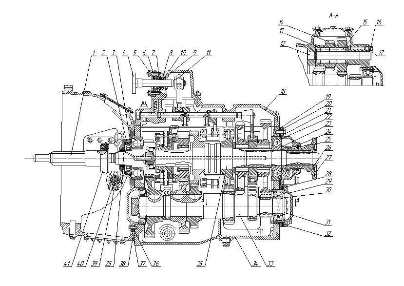 Drawing gearbox KamAZ