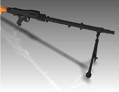 3d model of a machine gun Mg-34-M