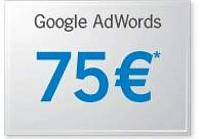 The coupon / promotional code Google Adwords 75 € Franc
