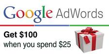 Google Adwords coupon face value of $ 100 for US